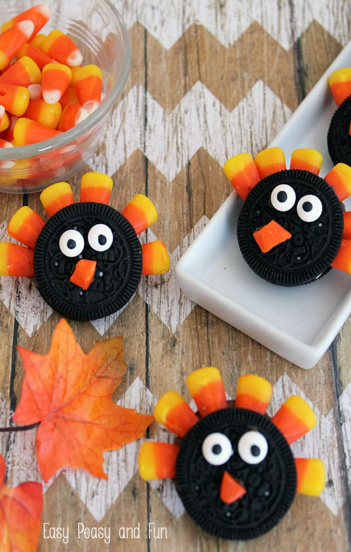 Simple Oreo Turkey Cookies
