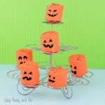 Toilet Paper Roll Pumpkins Craft