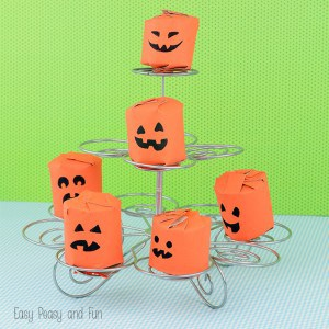 Toilet Paper Roll Pumpkins Craft
