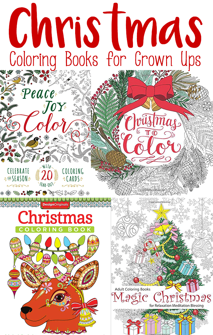 Jolly christmas coloring books for adults easy peasy and fun Coloring books for young adults