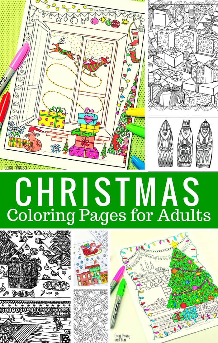 image relating to Free Printable Adult Christmas Coloring Pages titled No cost Printable Xmas Coloring Internet pages for Older people - Very simple