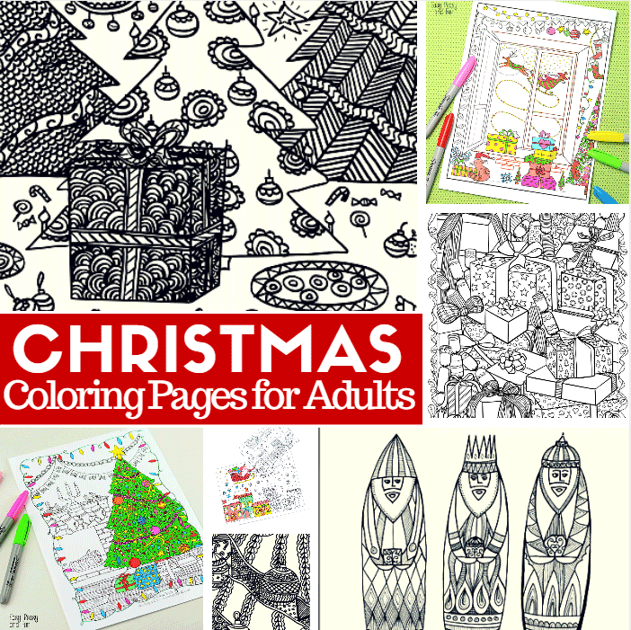 Free Printable Christmas Coloring Pages for Adults - Easy ...