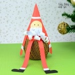 Paper Cone Santa Craft – Christmas Crafts for Kids