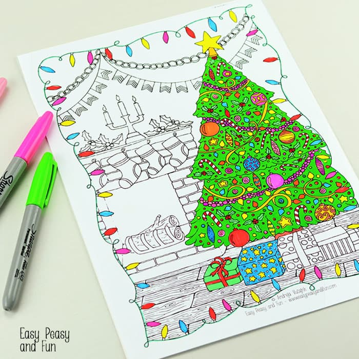 Free Printable Christmas Coloring Page