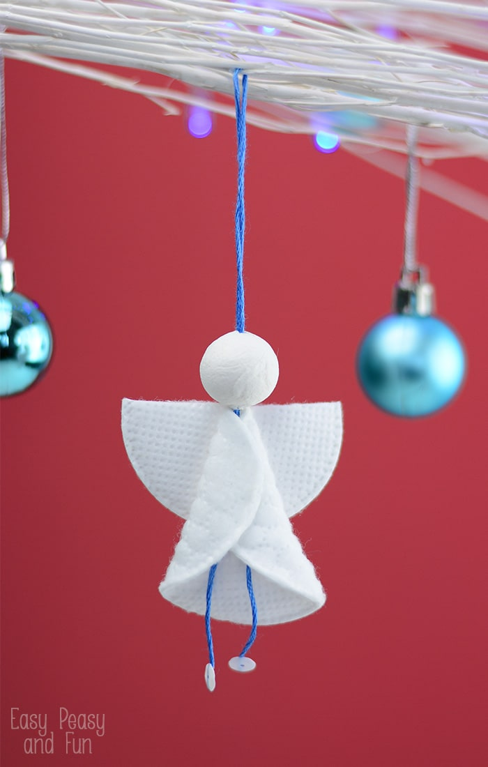 Cotton Rounds Angels Ornaments Christmas Ornaments For