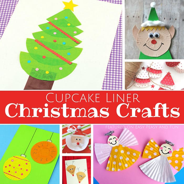 Cupcake Liner Christmas Crafts