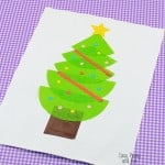 Christmas Tree Cupcake Liner Craft