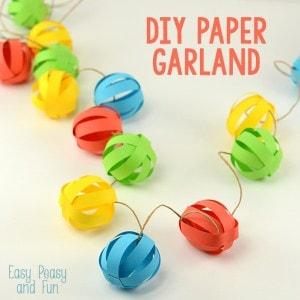 Paper Ball Garland