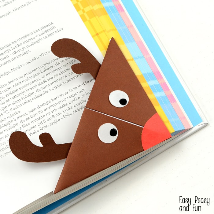 DIY Reindeer Corner Bookmark