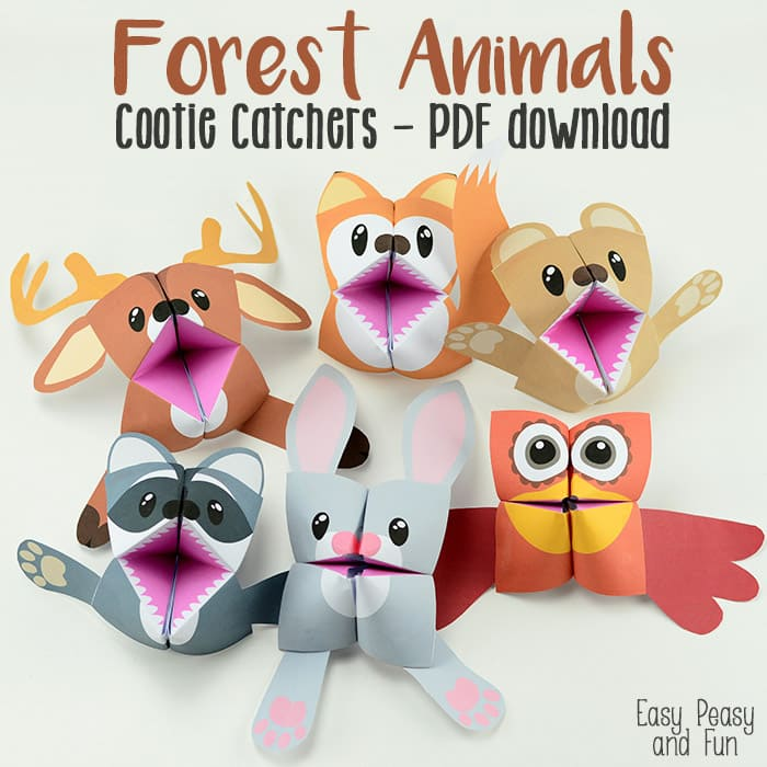 Fun Forest Animals Cootie Catchers