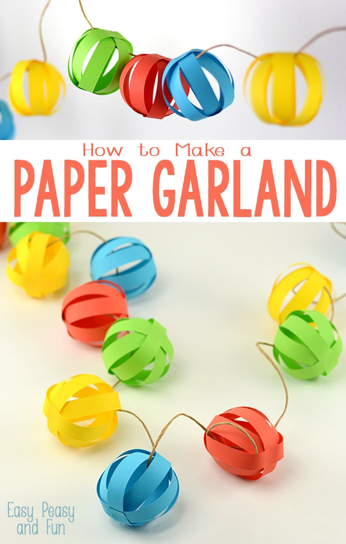 Paper Ball Garland Easy Peasy And Fun