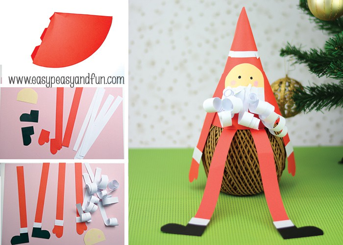 How to Make a Paper Cone Santa
