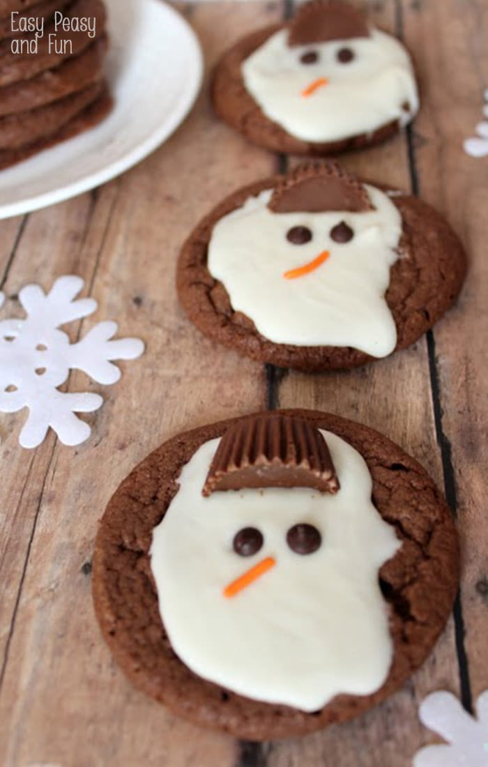 Melted Snowman Cookies Easy Melted Snowman Cookies