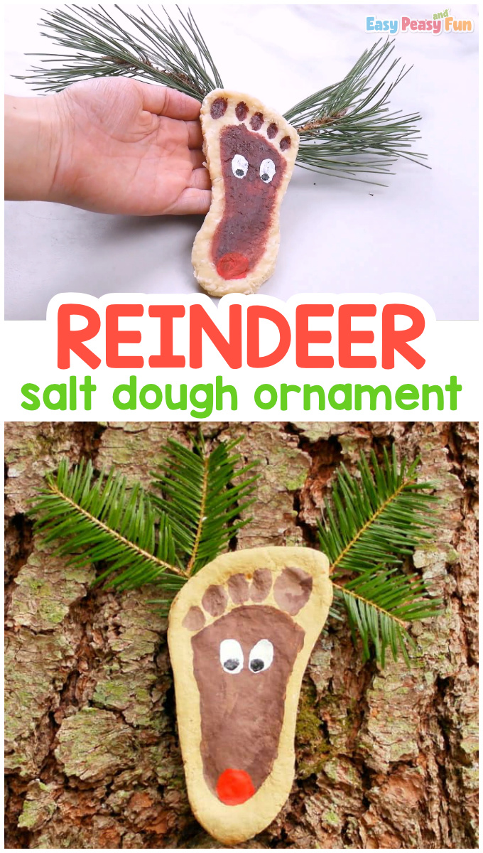 Salt Dough Reindeer Ornament Idea