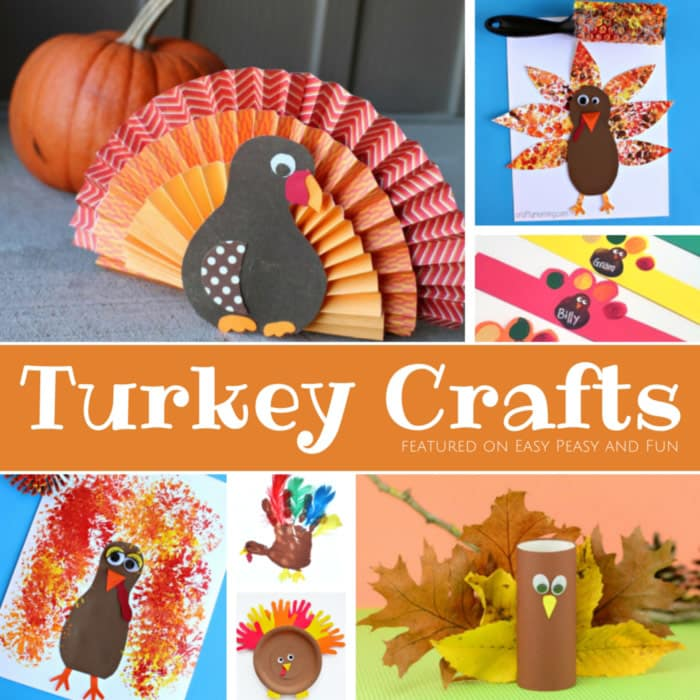 Super Fun Turkey Crafts for Kids - preschool, kindergarten and older kids