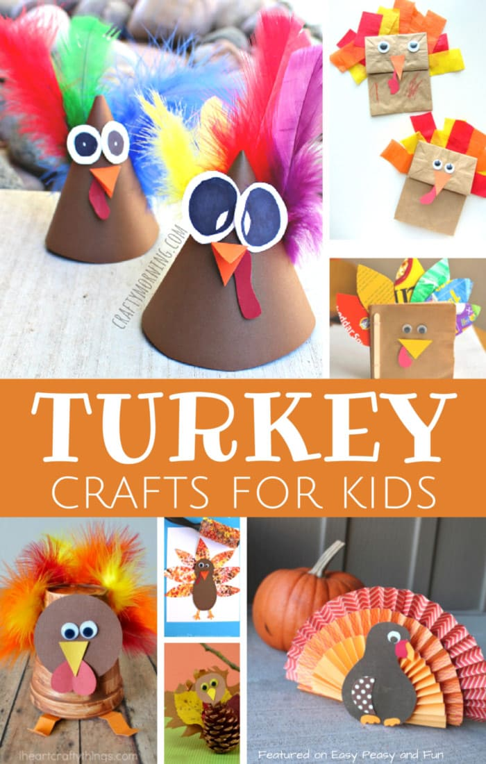Lots Of Super Fun Turkey Crafts For Kids