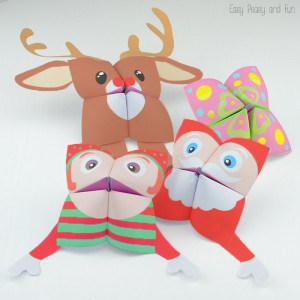Christmas Cootie Catchers – Fortune Teller Characters