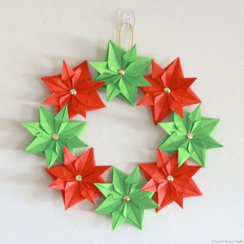 Christmas Paper Origami Wreath