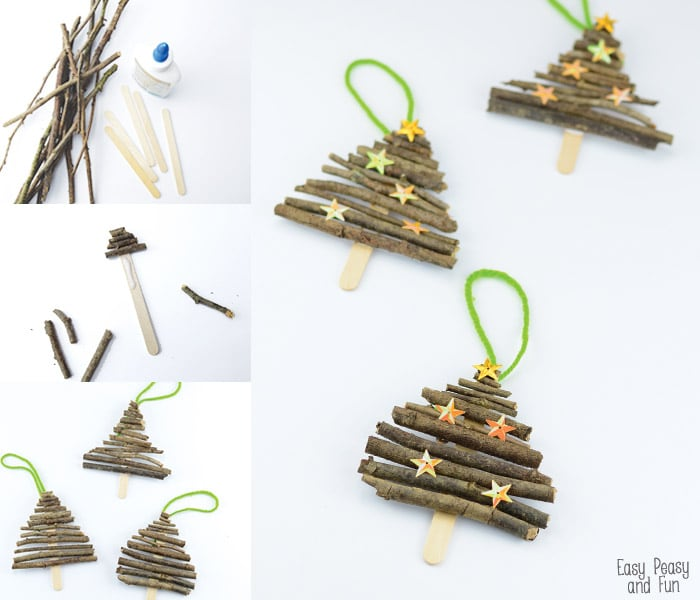 Christmas Popsicle Stick Ornaments