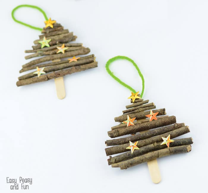 Christmas Popsicle Stick Tree Ornaments