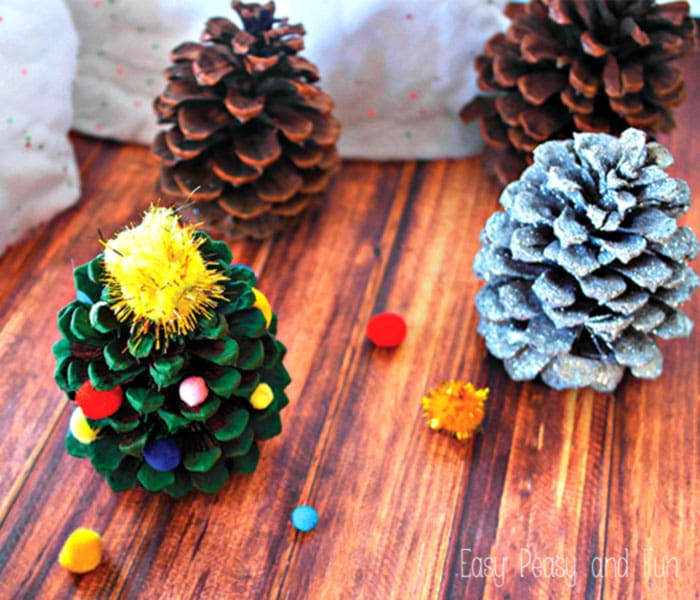 Christmas Tree made From Pinecone
