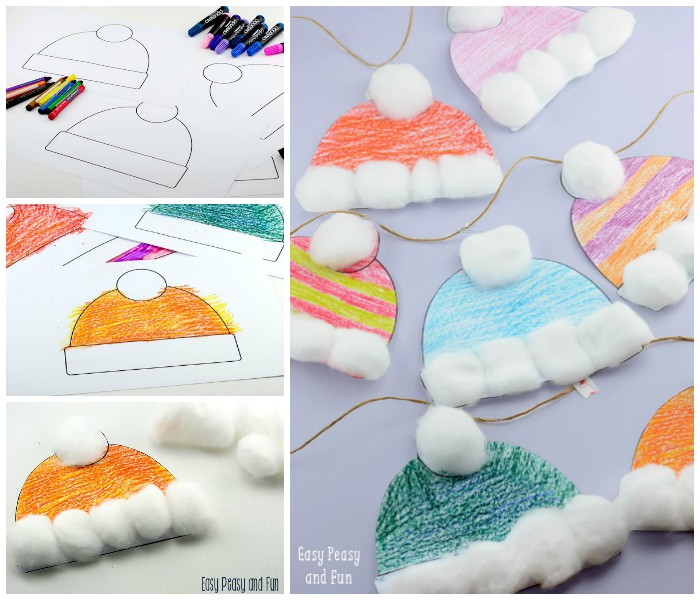 Fun Winter Hats Craft for Kids