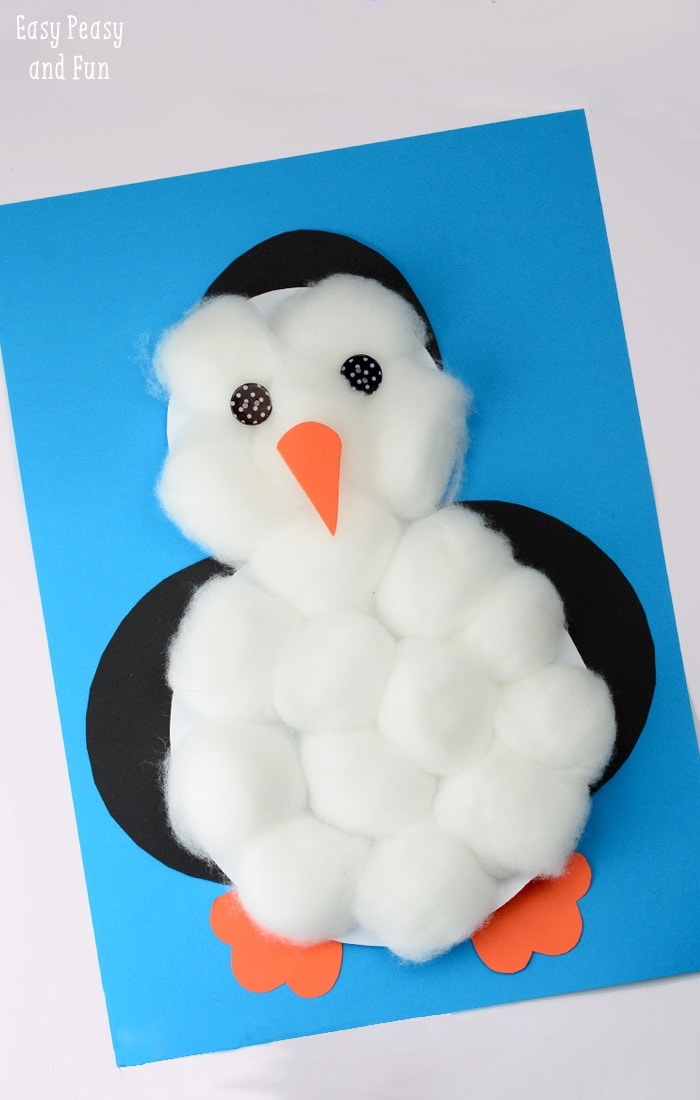 Cotton balls penguin craft easy peasy and fun for Penguin project