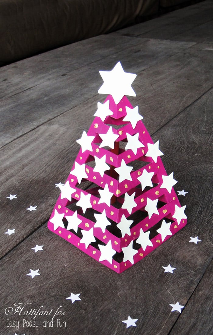 glow in the dark 3d paper christmas tree paper craft - Easy Paper Christmas Decorations
