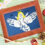 Handprint and Footprint Angel Craft