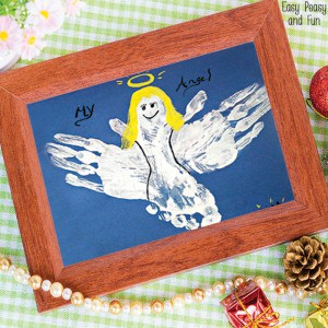 Handprint and Footprint Angel Craft