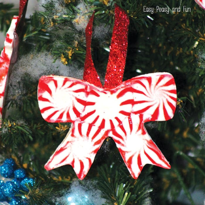 how to make peppermint candy ornaments - Peppermint Christmas Decorations