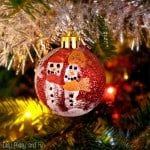 Kid Made Ornaments Fingerprint Snowmen Ornaments