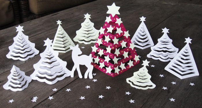Glow in the dark 3d paper christmas tree easy peasy and fun for 3d christmas decoration
