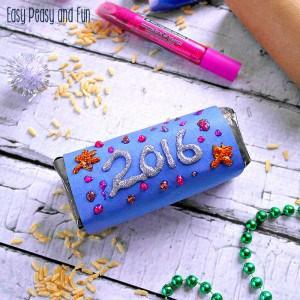 New Year's Eve Rice Shaker Craft