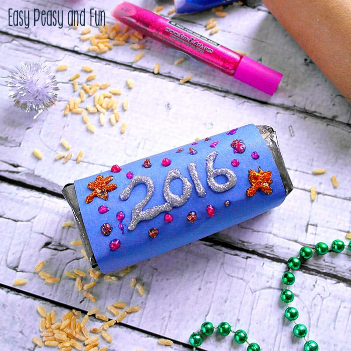 New Year's Eve Rice Shaker Craft