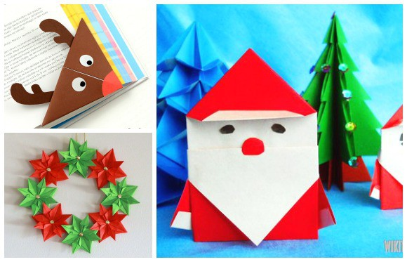 Christmas Ornament Origami Folded Pictures | Origami natale ... | 373x580