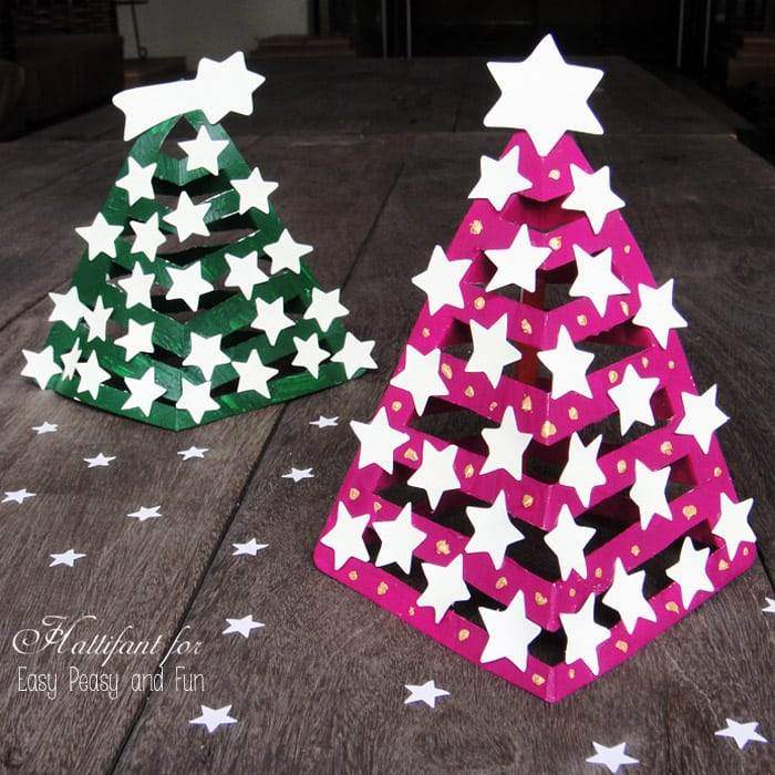3d Paper Christmas Tree Template.Glow In The Dark 3d Paper Christmas Tree Easy Peasy And Fun