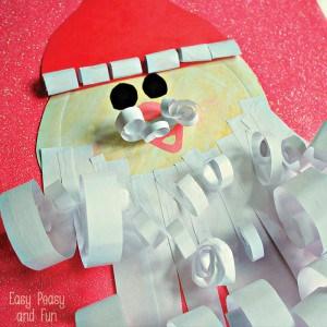 Paper Plate Santa Craft