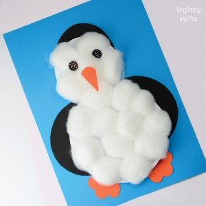 Easy Penguin Craft With Cotton Balls - perfect for toddlers, preschool and kindergarten