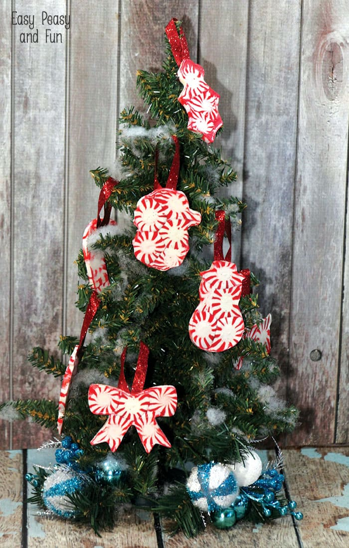 peppermint candy ornaments - Peppermint Christmas Decorations
