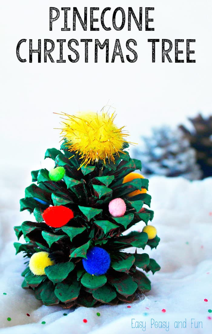 Decorate Christmas Tree On Paper : Pinecone christmas tree decoration easy peasy and fun