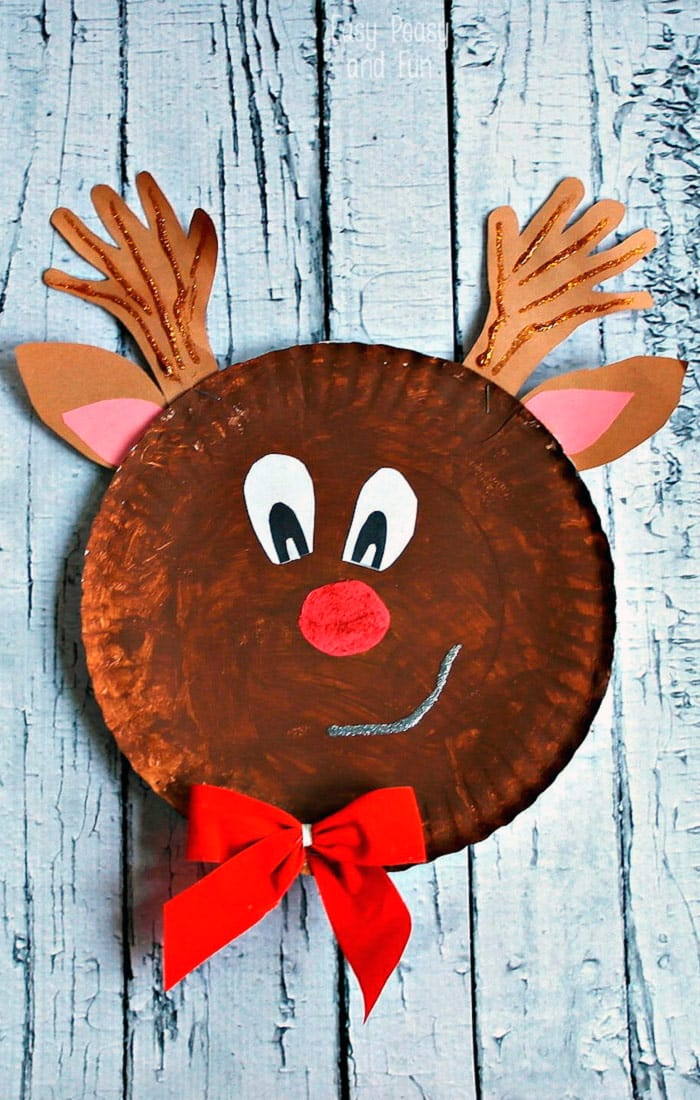 Rudolph Reindeer Paper Plate Craft Easy Peasy And Fun