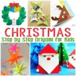 Simple Christmas Origami for Kids
