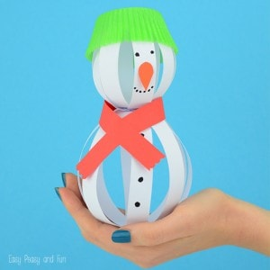 Simple Snowman Craft Paper Crafts for Kids