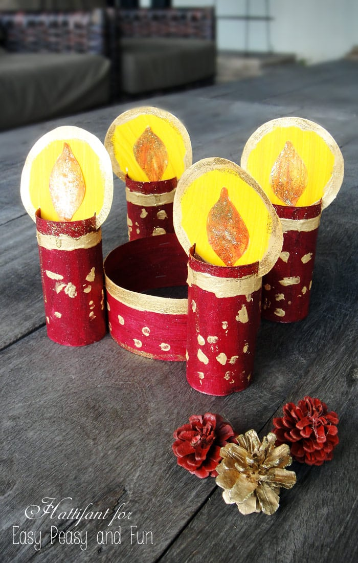 Toilet Paper Roll Candle Craft