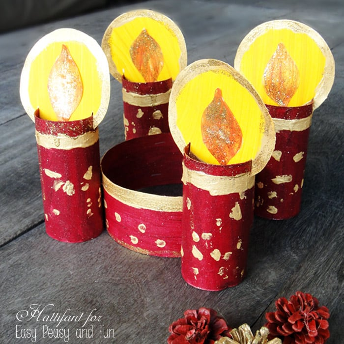 Toilet paper roll advent wreath easy peasy and fun