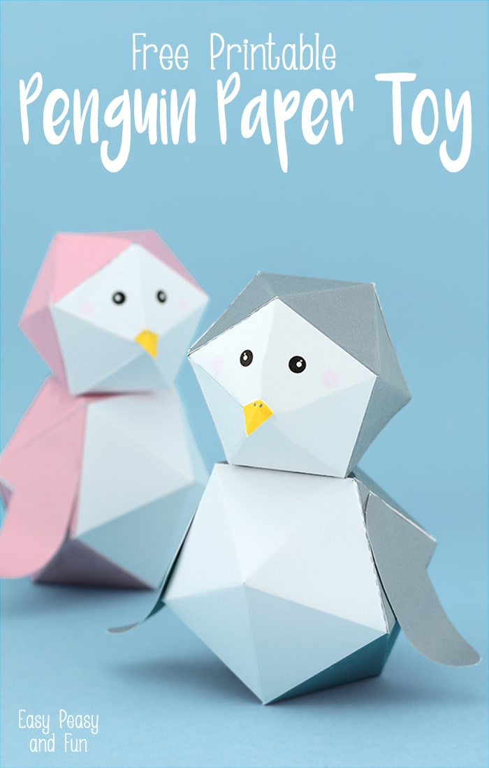 3D Free Printable Penguin Paper Toy  sc 1 st  Easy Peasy and Fun : penguin paper plates - pezcame.com