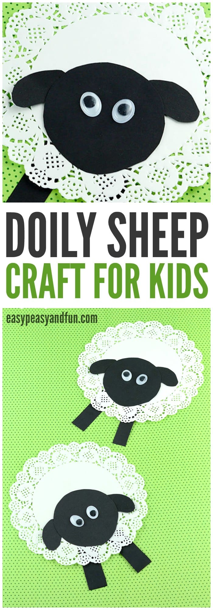 Doily Sheep Craft Easy Peasy