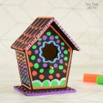 DIY Colorful Birdhouse Craft