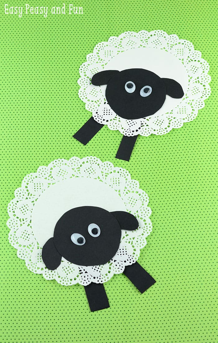 doily sheep craft doily sheep craft easy peasy and 1884